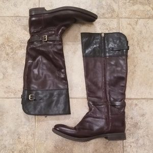 Enzo Angiolini Great Leather Black Brown Boots